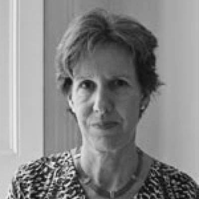 Black and white image of Susanne Kuechler