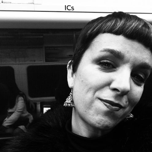 Black and white portrait of Arantxa Echarte