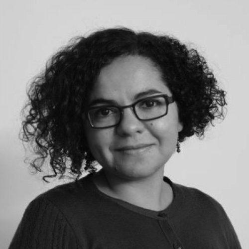 Black and white portrait of Meryem Benohoud