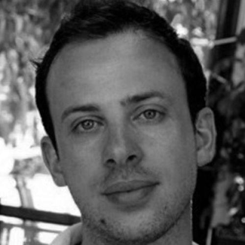 Black and white portrait of Emiliano Bertolli
