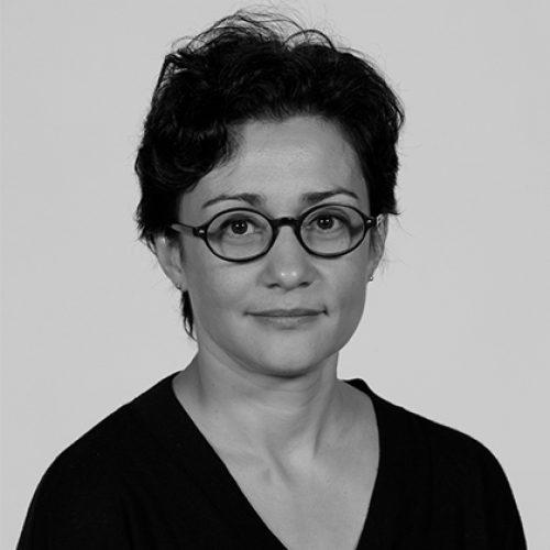Black and white portrait of Tincuta Heinzel