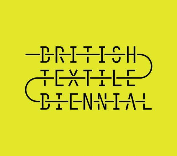 British Textile Biennial logo on a yellow background