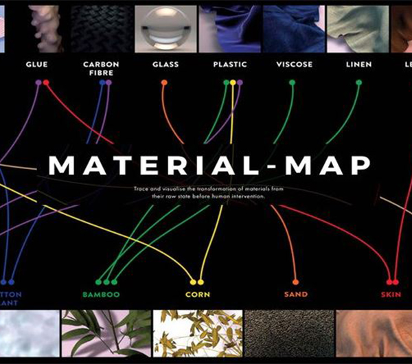 A map is shown with different material properties