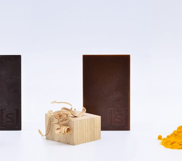 A collection of bio designed materials which are dyed using food coloring such as turmeric, walnut and shavings of oak wood