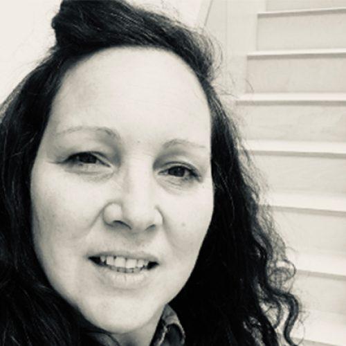 Black and white portrait of Jo Pierce