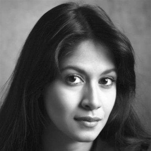 black and white portrait of Shama Rahman