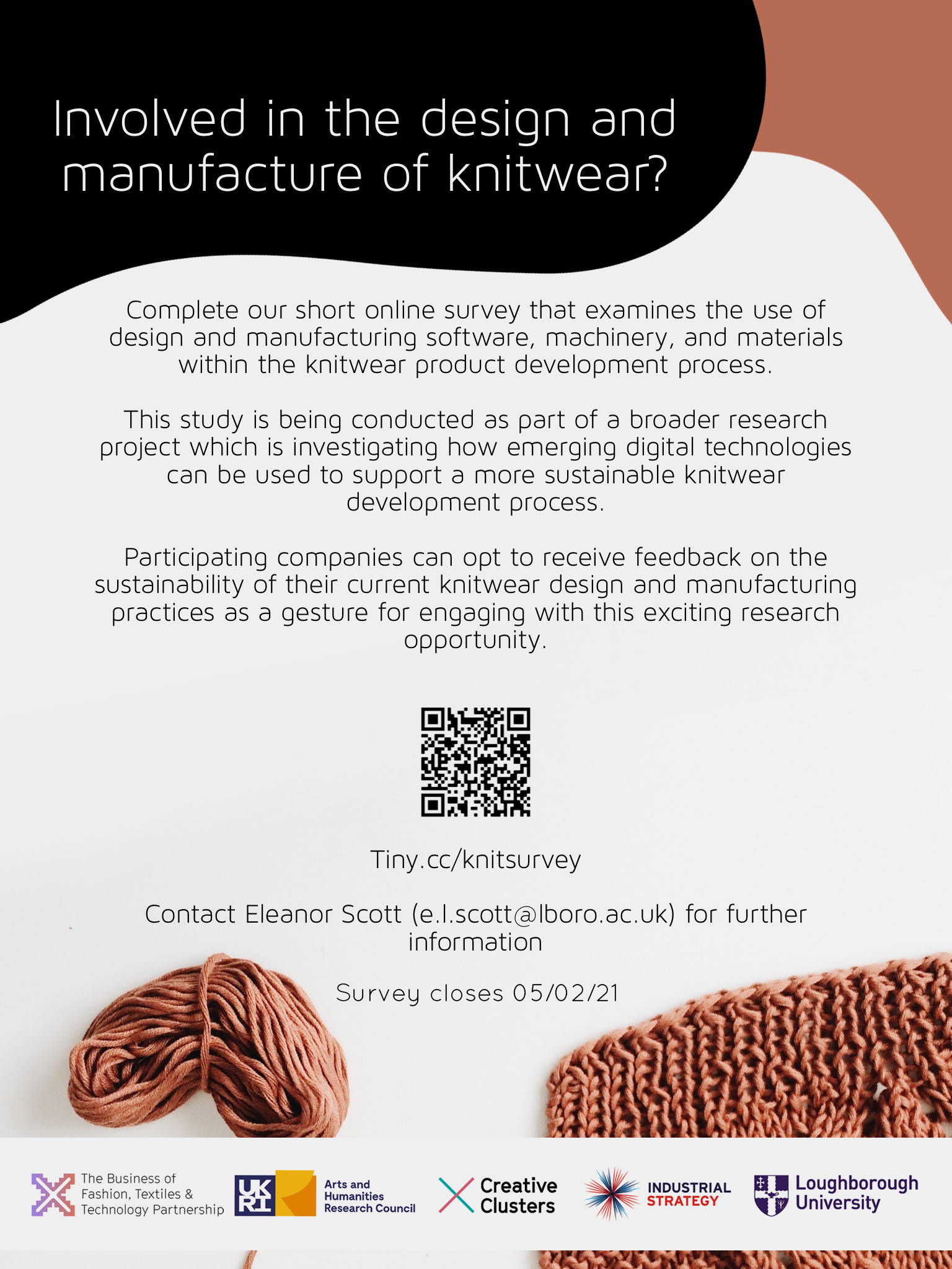 Flyer to take part in knitwear survey